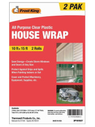 Frost King 10x15-Foot House Wrap 2-Pack for $5