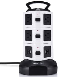 10-Outlet 4-USB 3,000W Surge Protector for $20