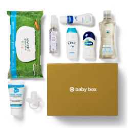 Target October 8-Piece Baby Box for $7
