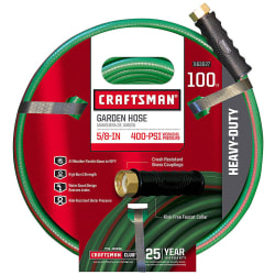 "Craftsman 5/8"" 100ft Heavy-Duty Garden Hose $25"