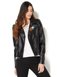 NY&C Women's Embroidered Moto Jacket for $30