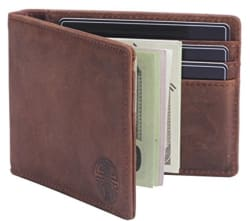Win & Income Men's Leather Bifold Wallet for $16