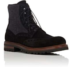 Barneys New York Men's Wingtip Brogue Boots $105