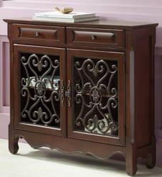 Maravilla 2-Door 2-Drawer Walnut Cabinet for $250