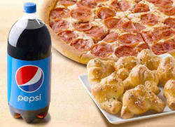 Papa John's Medium Pizza, Garlic Knots, Pepsi $10