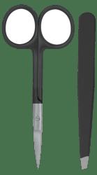 Measurable Slanted Tip Tweezer & Scissors Set $3