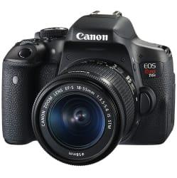 Refurb Canon EOS Rebel T6i DSLR Camera, Lens $499