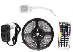 Annt Waterproof 300-LED Light Strip Kit for $9