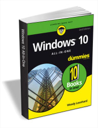 """Windows 10 All-In-One For Dummies"" eBook for free"