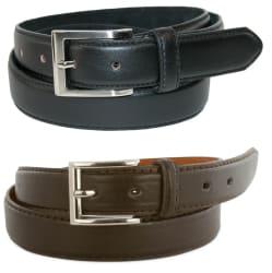 Men's Genuine Leather Dress Belt 2-Pack $5