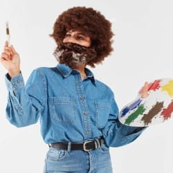 Urban Outfitters Unisex Bob Ross Costume Kit $23
