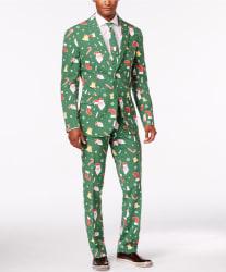 OppoSuits Men's SantaBoss Slim-Fit Suit, Tie $69