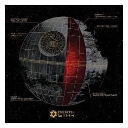 Star Wars Death Star Canvas Wall Art for $20