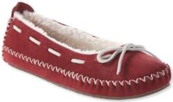 L.L.Bean Women's Hearthside Moccasin Slippers $40