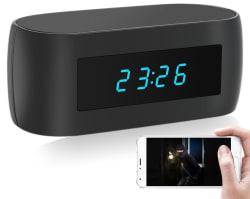 Spy Alarm Clock w/ 1080p WiFi IP Camera for $41