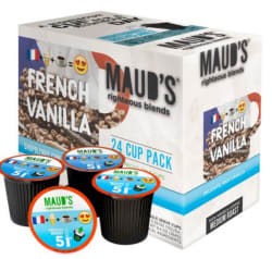 100 Maud's French Vanilla Coffee K-Cup Pods $36