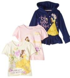 Princess Belle 3pc Hoodie And T Shirt Set For 9
