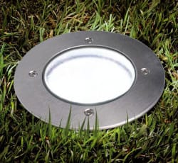 Solar LED Underground Garden Path Light for $7