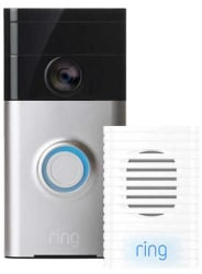 Ring WiFi Video Doorbell w/ Chime for $170