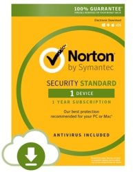 Norton Security Standard 1-Year Subscription $13