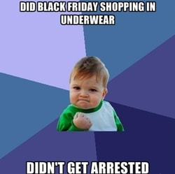 Black Friday Infographic: Most People Shop Online, Because Why Wear Pants?