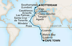Cape Town to Rotterdam: 10 Amazing Stops Along This 35-Night Cruise