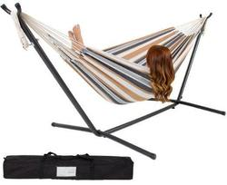 Double Hammock w/ Steel Stand, Carrying Case $50