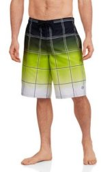 Op Men's Gradient Plaid E-Board Shorts for $8