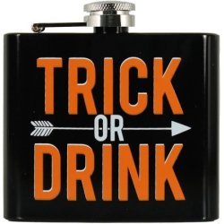 Trick Or Drink Stainless Steel Flask for $3