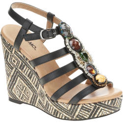 Mo Mo Women's Cabana Wedge Sandals for $5