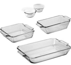 Anchor Hocking 7-Piece Bakeware Set for $10