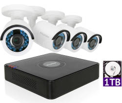 LaView 4ch 1TB Security System w/ 4 Cameras $209