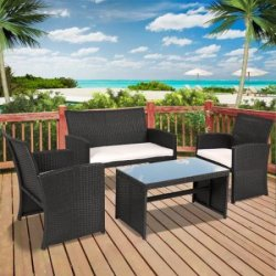 BCP 4-Piece Patio Furniture Set for $180