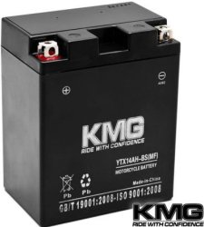 KMG Sealed Motorcycle Battery for $47