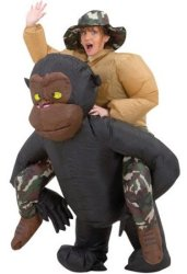Adult Inflatable Gorilla Halloween Costume for $33