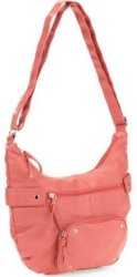 Faded Glory Women's Washed Hobo Handbag for $12