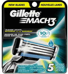Gillette Mach 3 Razor Refill 5-Pack for $8