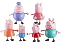 6 Pack Peppa Pig Family Figures for $13