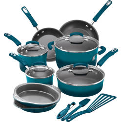 Rachael Ray 15-Piece Nonstick Cookware Set $100