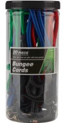 20-Piece Bungee Cord Set for $5