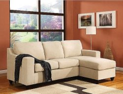 Vogue Microfiber Chaise Sectional Sofa for $339