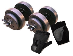 Gold's Gym 40-lb. Dumbbell Set w/ Gloves from $15
