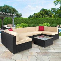 BCP 7-Piece Rattan Patio Sofa Set for $700