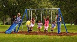 Flexible Flyer Swing Free Metal Swing Set for $110