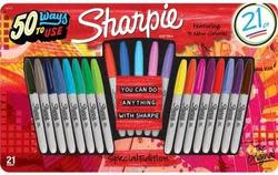 Sharpie Fine Point Permanent Markers 21-Pack $8