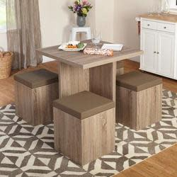 Baxter 5-Piece Dining Set w/ Storage Ottomans $156