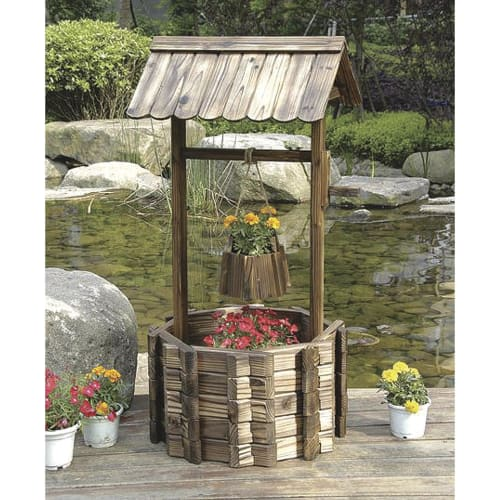 Stonegate Designs Grand Wishing Well Planter for $80 + free shipping