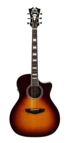 D'Angelico Premier Gramercy Single Cutaway Grand Auditorium Acoustic-Electric Guitar for $349 + free shipping