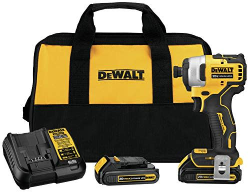 "Refurb DeWalt ATOMIC 20V MAX 1/4"" Impact Driver Kit for $93 + free shipping"