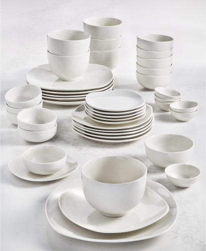 Tabletops Unlimited Inspiration by Denmark 42pc Ceramic Dinnerware Set for $45 + free shipping